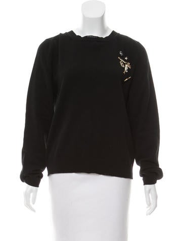 Marc Jacobs Embellished Wool Sweater None