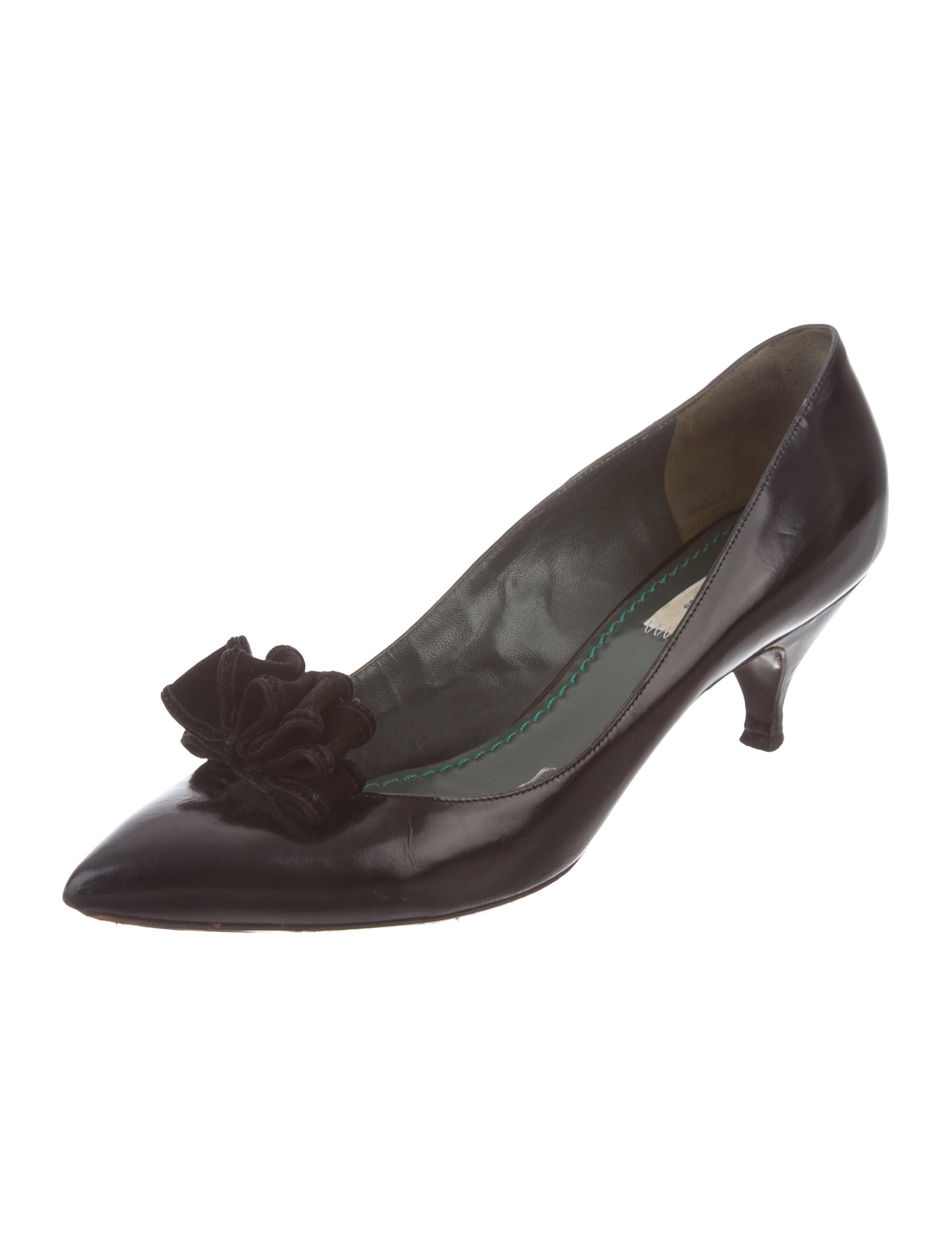 Marc Jacobs Ruffled Pointed-Toe Pumps discount latest PMoUONZOkG
