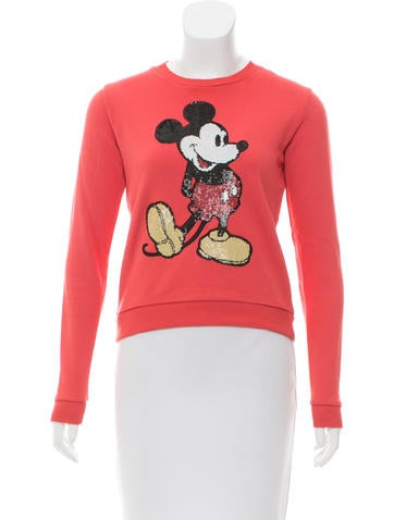 Marc Jacobs Sequined Mickey Mouse Sweatshirt None