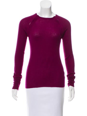 Marc Jacobs Rib Knit Cashmere Top None