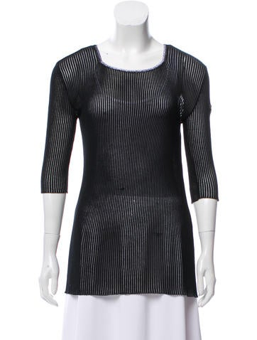 Marc Jacobs Embroidered Rib Knit Top None