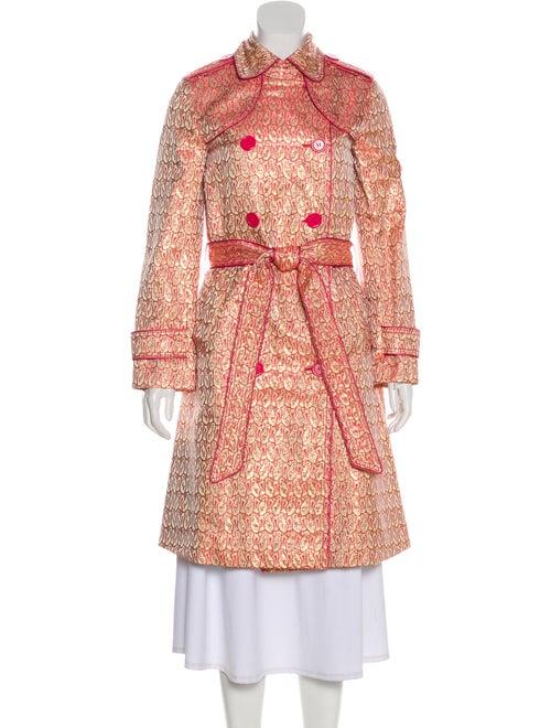 Marc Jacobs Long Brocade Coat Pink