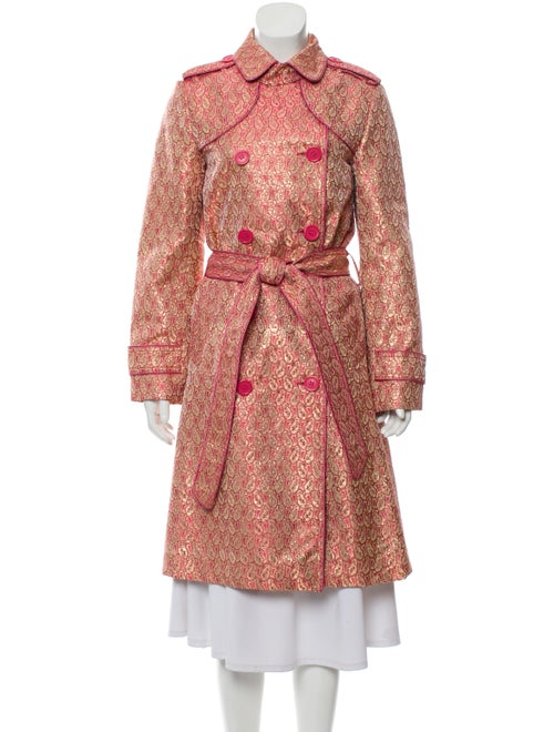 Marc Jacobs Brocade Double-Breasted Coat Pink