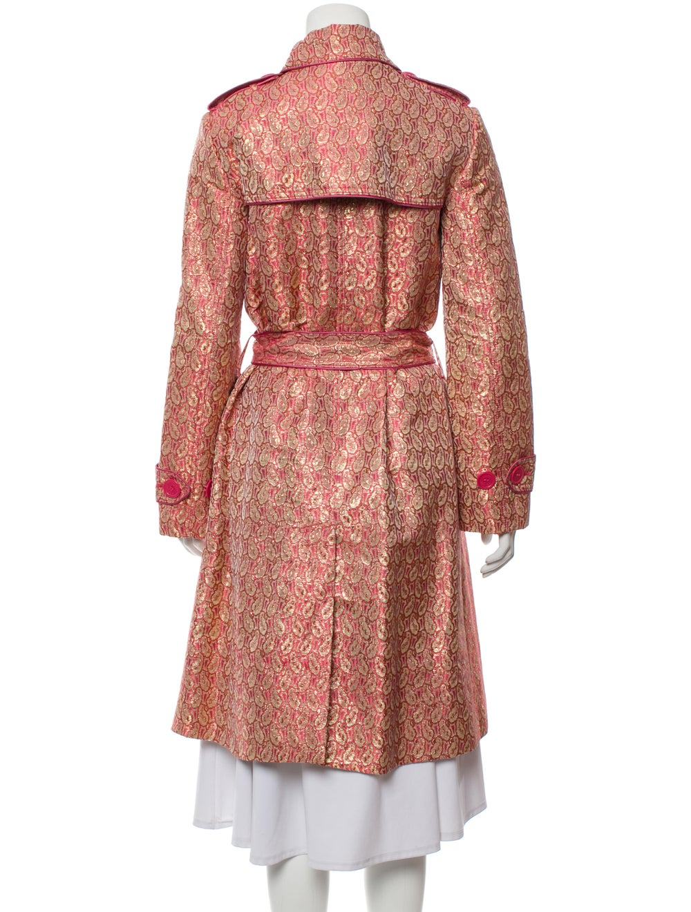 Marc Jacobs Brocade Double-Breasted Coat Pink - image 3