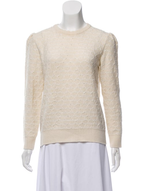 Marc Jacobs Textured Knit Sweater Beige