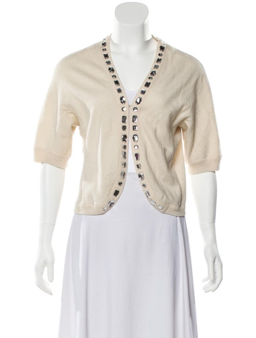 Marc Jacobs Short Sleeve Knit Cardigan silver