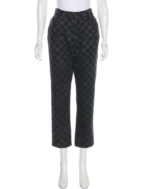 Marc Jacobs Printed High-Rise Jeans Black