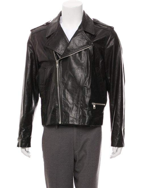 Marc Jacobs Leather Moto Jacket black