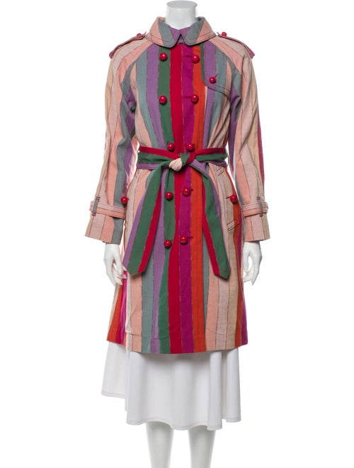 Marc Jacobs Striped Trench Coat Pink