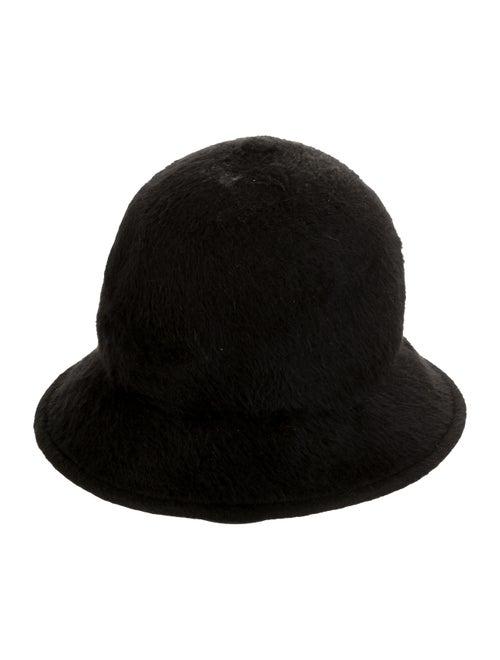 Marc Jacobs Fur Fedora Hat Black