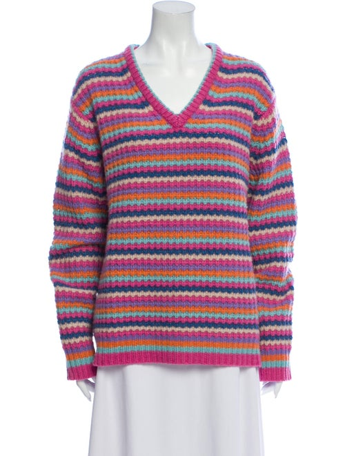 Marc Jacobs Cashmere Striped Sweater Pink