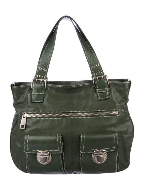 Marc Jacobs Leather Shoulder Bag Olive