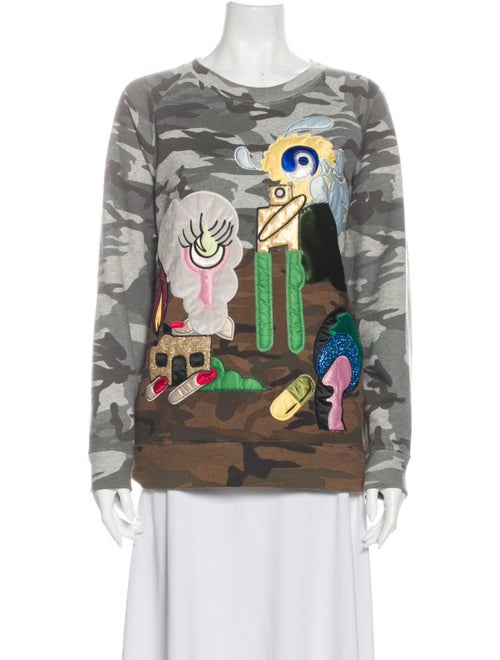 Marc Jacobs Embroidered Sweater Grey