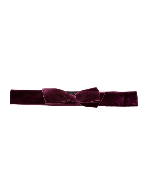 Marc Jacobs Velvet Wide Waist Belt