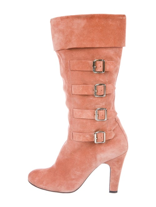 Marc Jacobs Suede Boots Pink