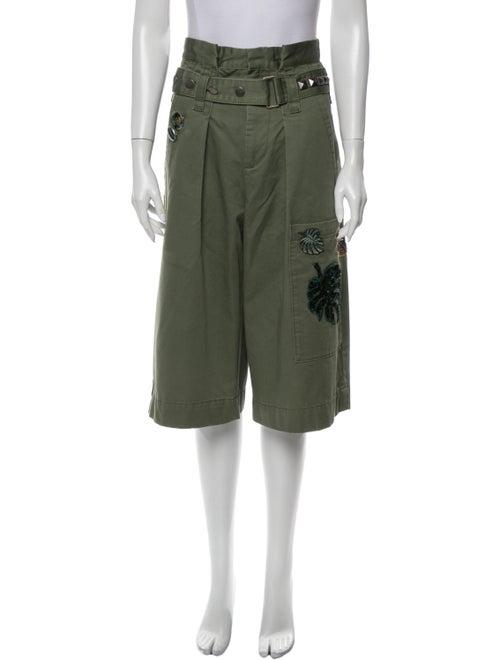 Marc Jacobs Tie-Dye Print Wide Leg Pants Green