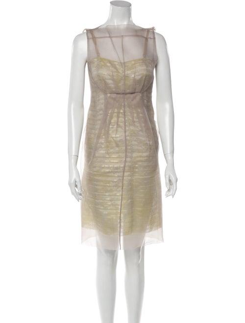 Marc Jacobs Bateau Neckline Knee-Length Dress