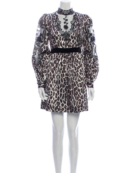 Marc Jacobs Animal Print Mini Dress