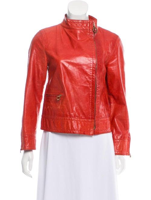 Marc Jacobs Leather Moto Jacket