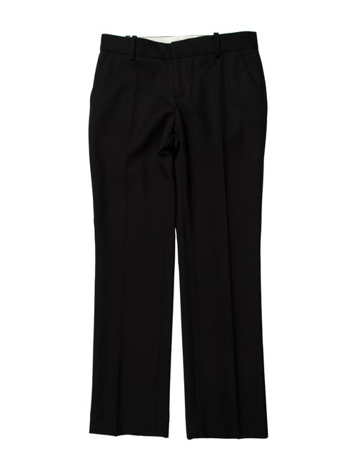 Marc Jacobs Wool Straight Leg Pants Wool