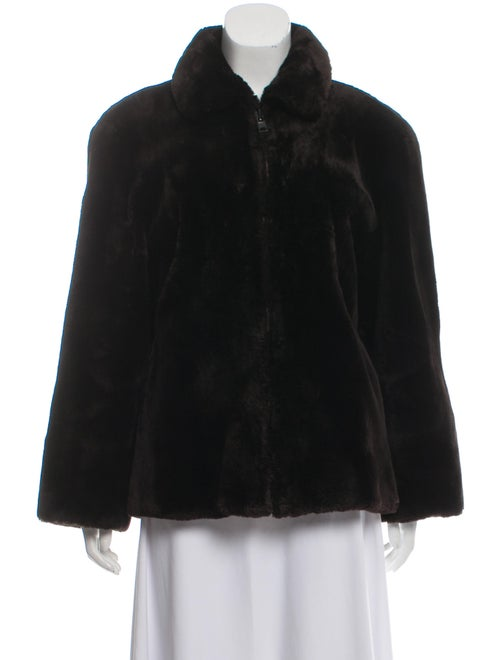 Mary McFadden Collared Fur Jacket