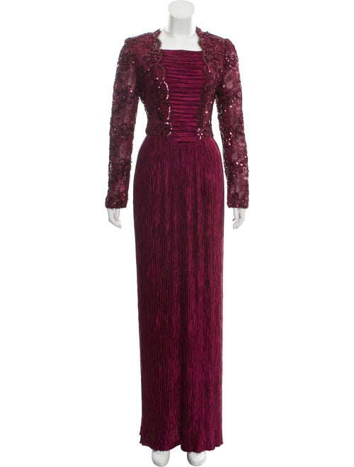 Mary McFadden Pleated Evening Dress