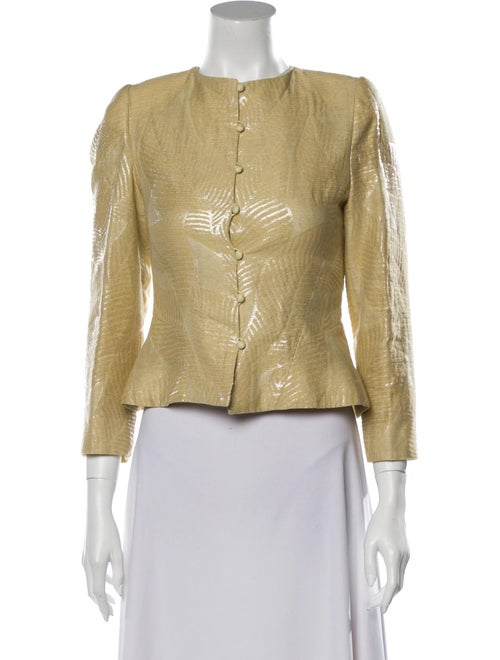 Mary McFadden Evening Jacket Yellow