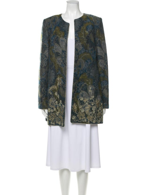 Mary McFadden Wool Printed Coat Wool