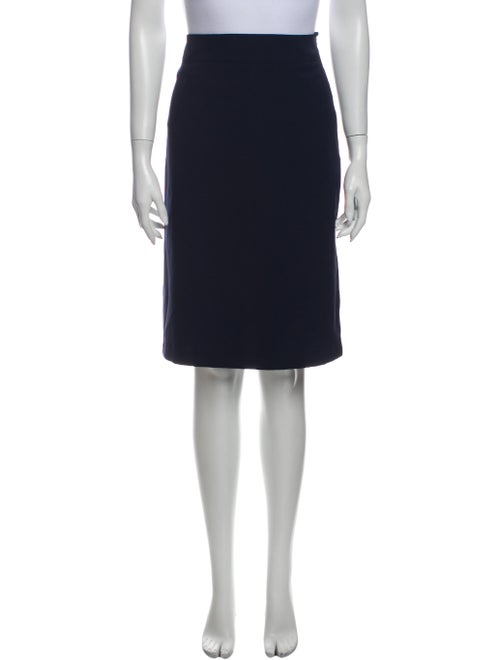 Mary McFadden Knee-Length Skirt Blue