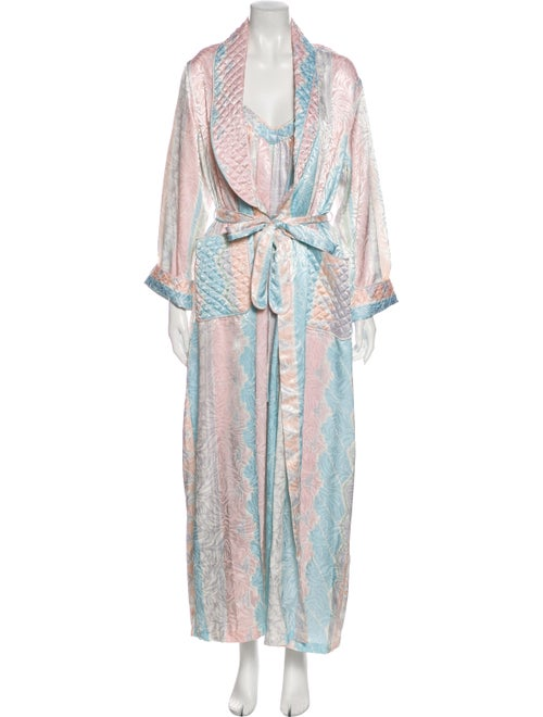 Mary McFadden Vintage Printed Nightgown Pink
