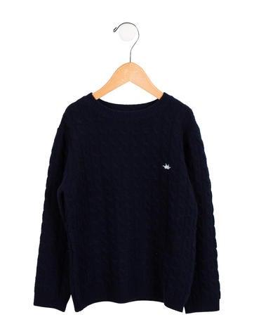 Marie Chantal Girls' Cashmere Logo Sweater None