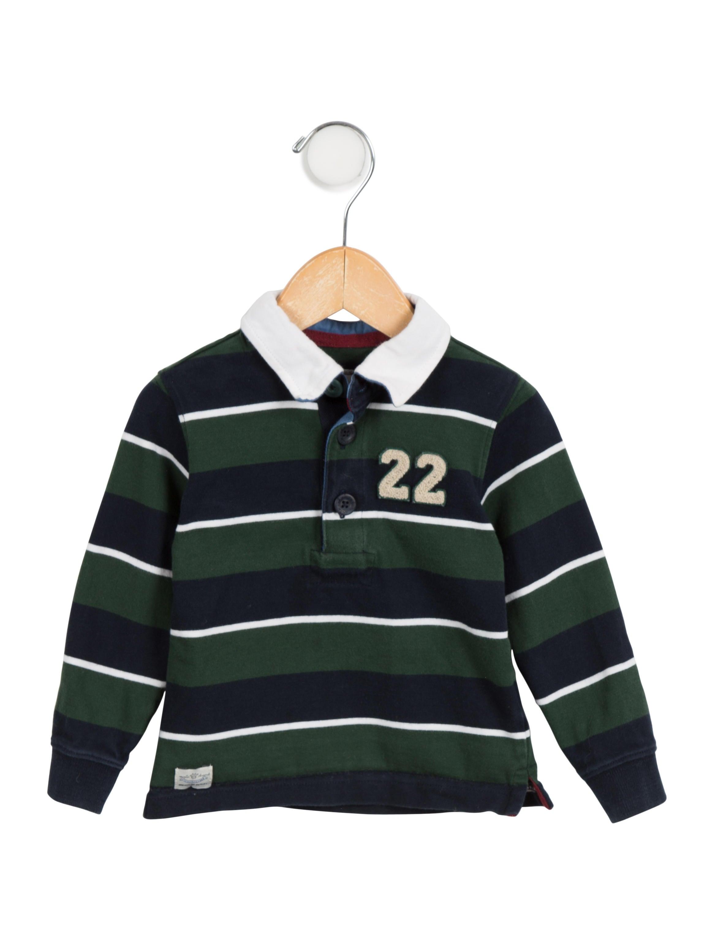 Marie Chantal Boys Striped Polo Shirt Boys March20303 The
