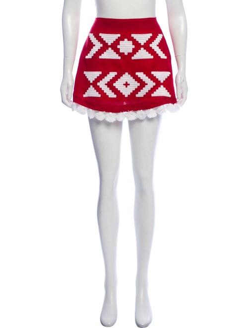 March 11 Linen Mini Skirt Red