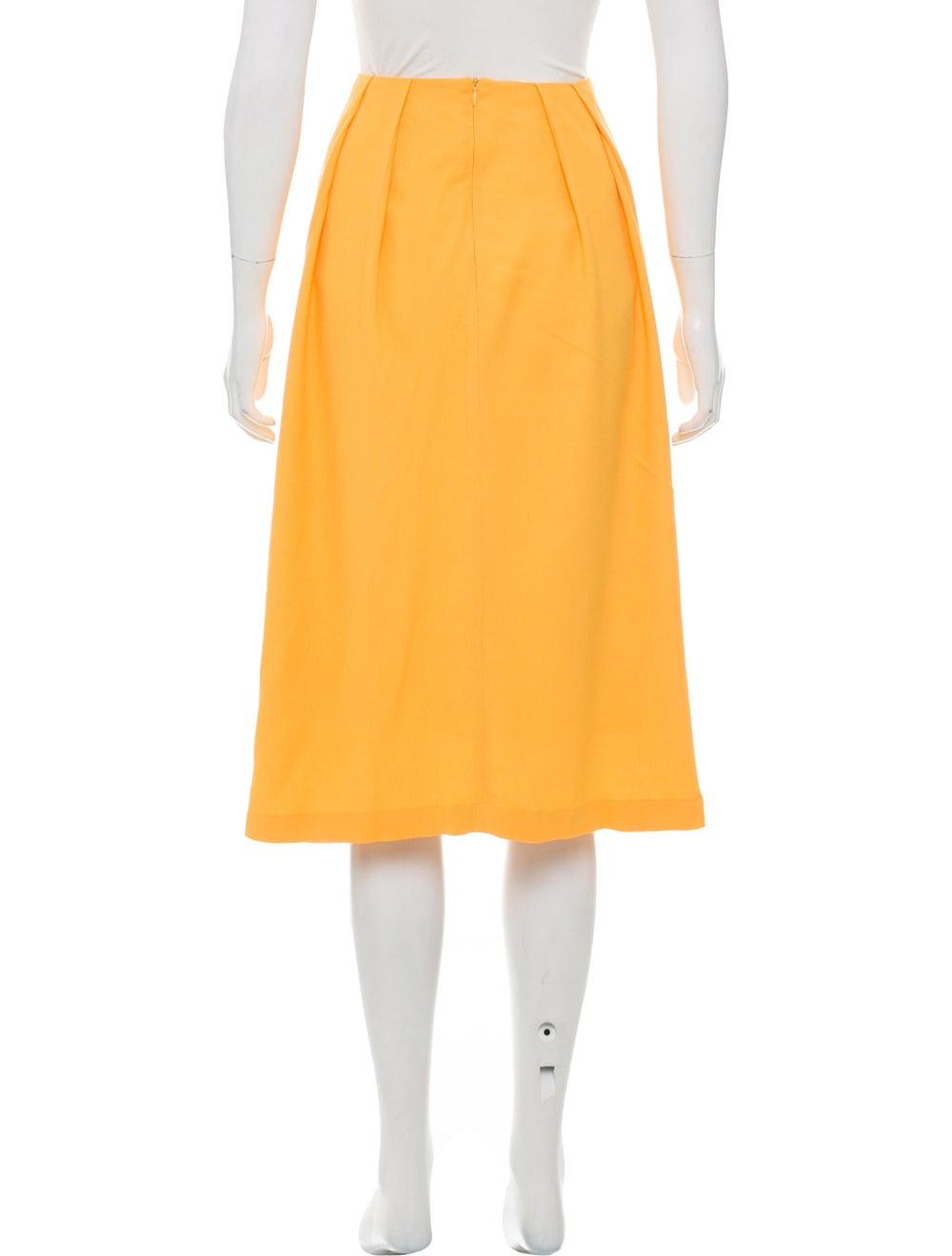 Marimekko Pleated Knee-Length Skirt Yellow - image 3