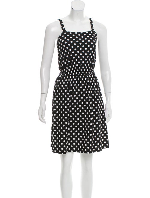 Marimekko Sleeveless Polka Dot Dress Black