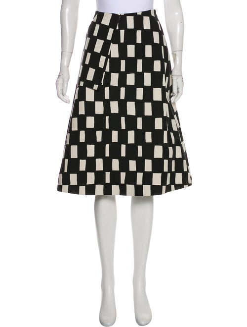 Marimekko Patterned Knee-Length Skirt Black - image 1
