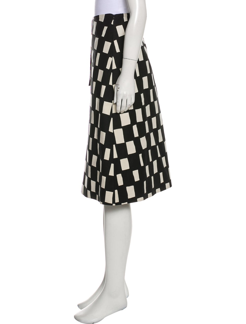 Marimekko Patterned Knee-Length Skirt Black - image 2