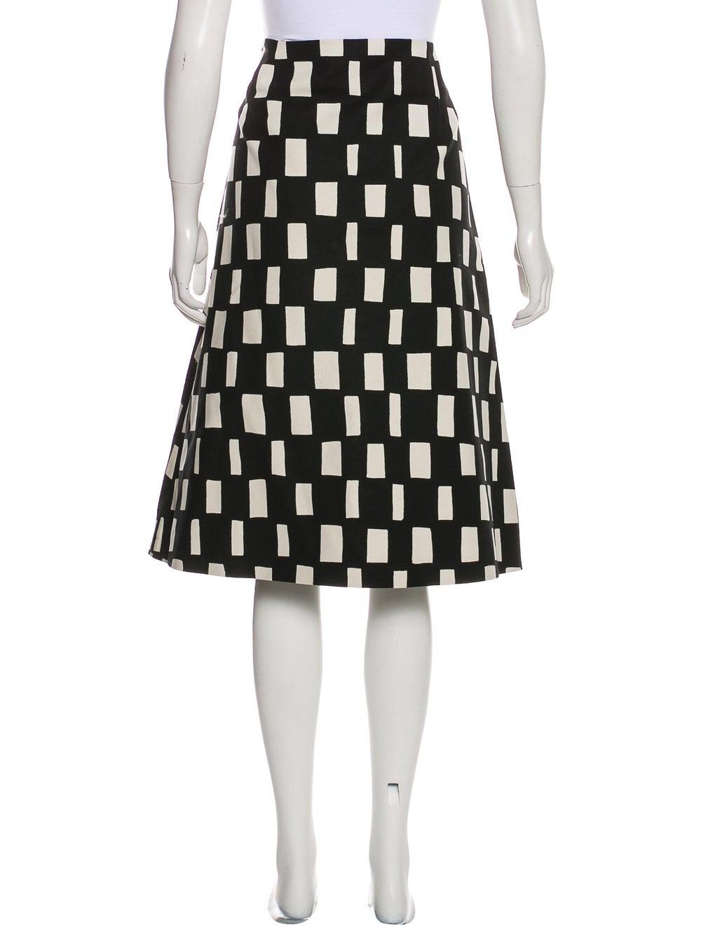 Marimekko Patterned Knee-Length Skirt Black - image 3