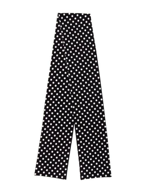 Marimekko Polka Dot Woven Scarf Black - image 1