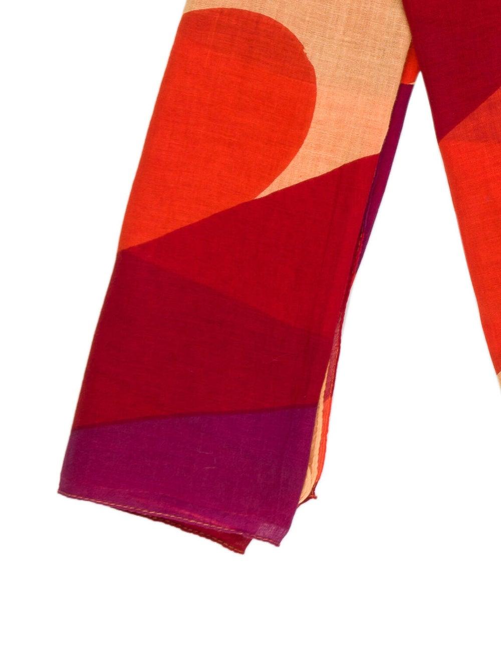 Marimekko Printed Scarf Orange - image 2