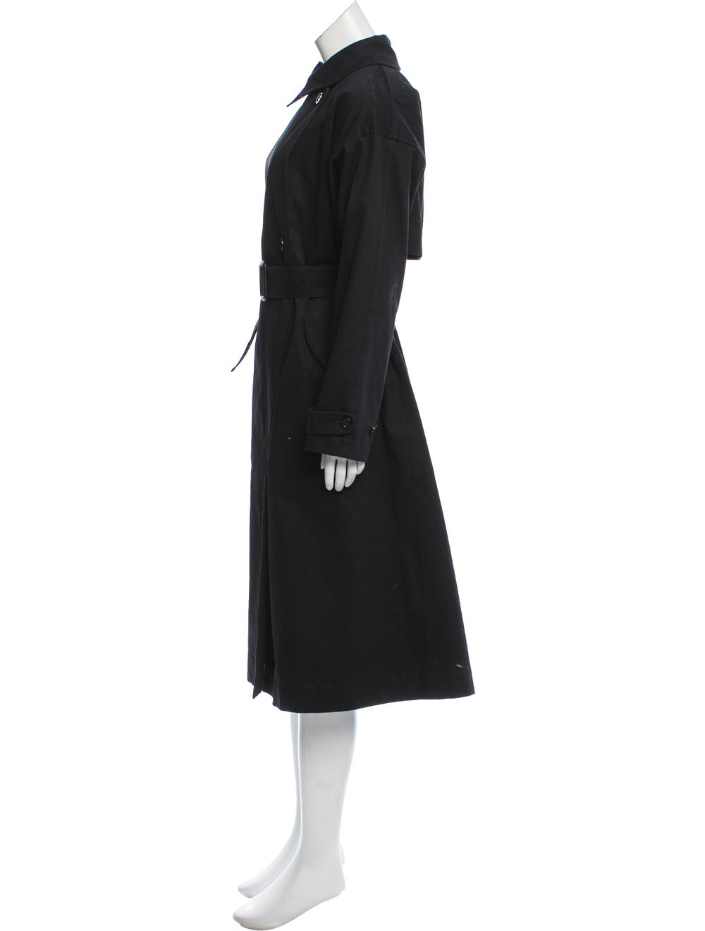 Marimekko Long Button-Up Coat Black - image 2