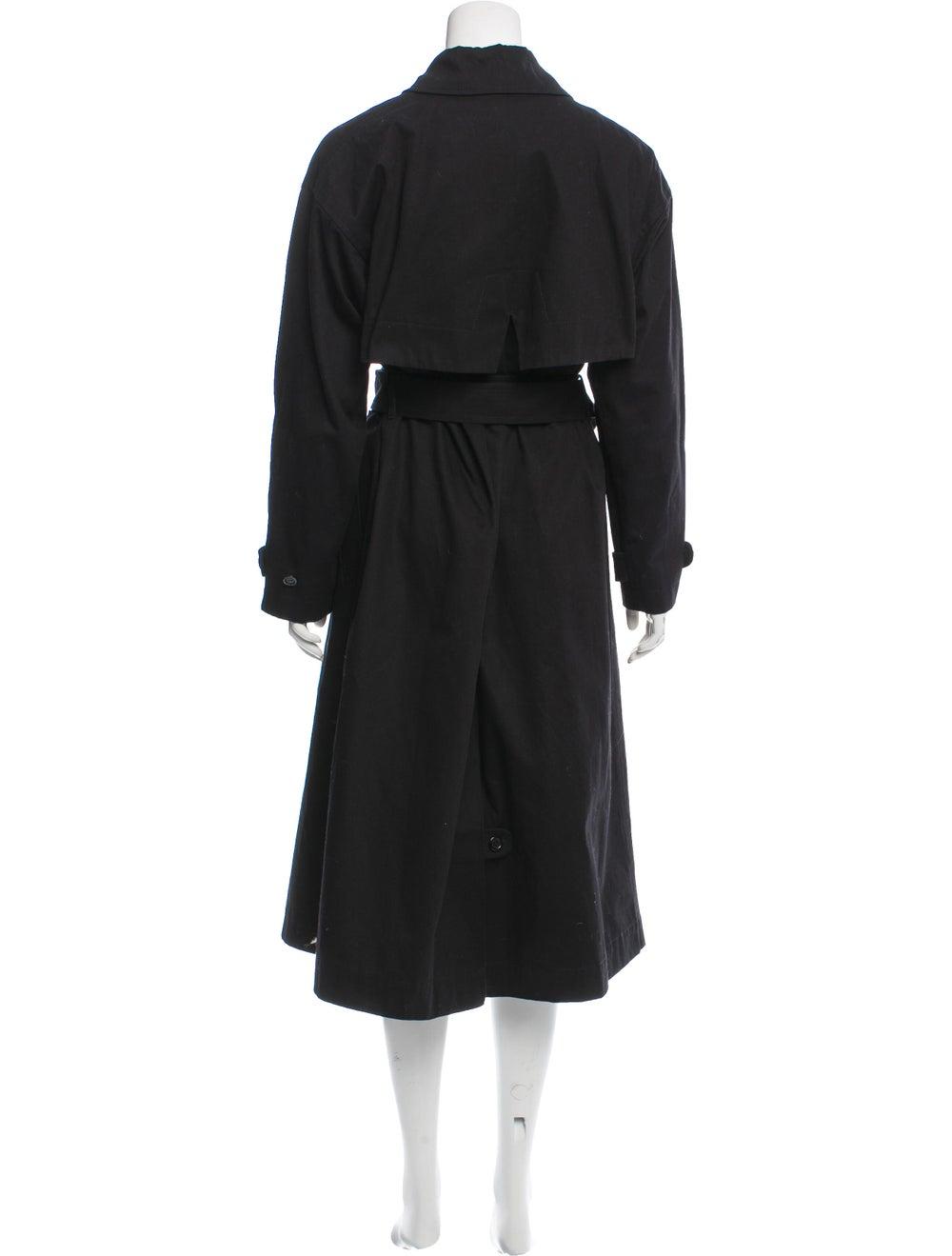 Marimekko Long Button-Up Coat Black - image 3