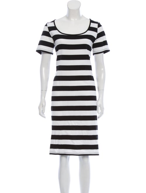 Marimekko Striped Knee-Length Dress Black