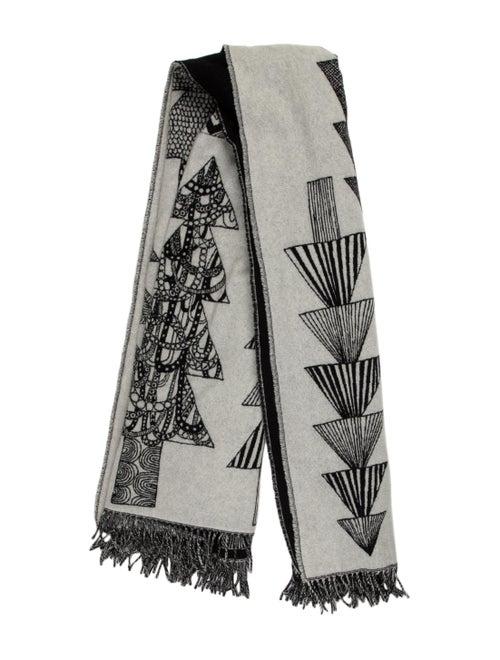 Marimekko Wool Printed Shawl Grey - image 1