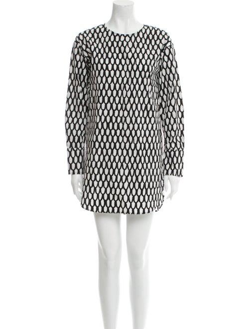Marimekko Printed Mini Dress Black