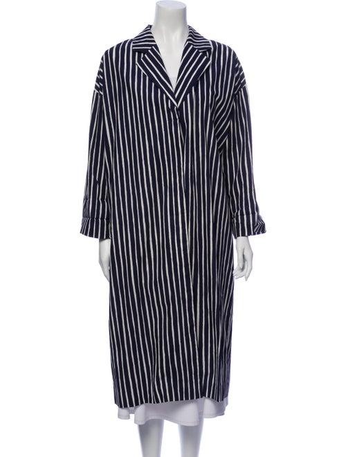 Marimekko Striped Coat Blue