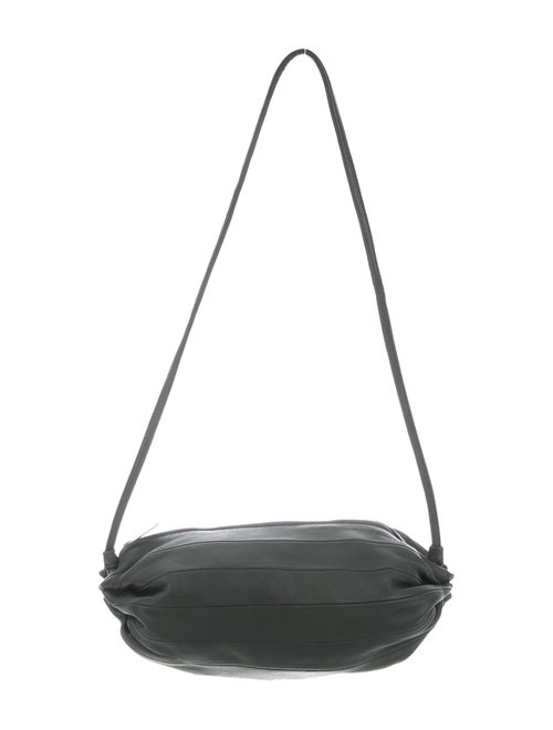 Marimekko Leather Shoulder Bag Olive