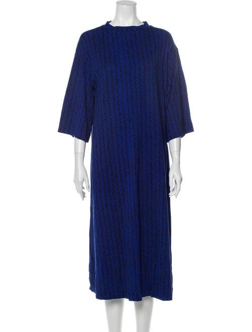 Marimekko Printed Midi Length Dress w/ Tags Blue