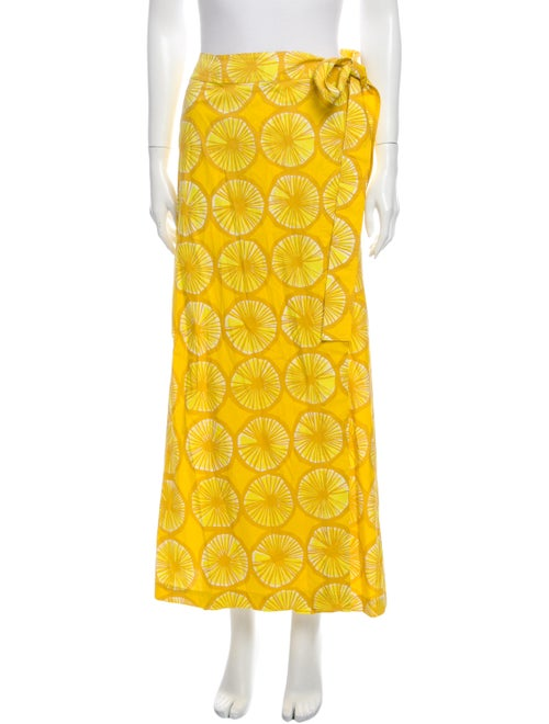 Marimekko Printed Midi Length Skirt w/ Tags Yellow