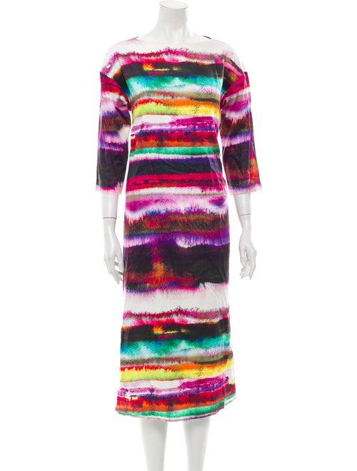 Marimekko Printed Midi Length Dress Purple